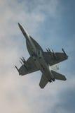 美国空军F18f超级大黄蜂航空器 免版税库存图片