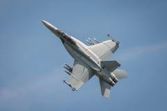美国空军F18f超级大黄蜂航空器 免版税图库摄影