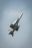 美国空军F18f超级大黄蜂航空器 免版税库存照片