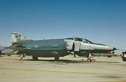 美国空军F-4G等待它的下个使命的69-0281 1991年6月 免版税库存照片