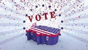 美国竞选录影  库存例证