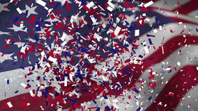 美国竞选的录影 库存例证