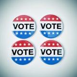 美国竞选的表决徽章 库存照片