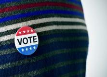 美国竞选的表决徽章 免版税库存照片