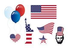 美国符号集传染媒介 免版税库存图片