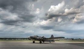 美国第二次世界大战轰炸机葡萄酒航空器 免版税库存图片