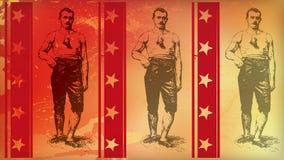 美国红色拳击手 库存照片