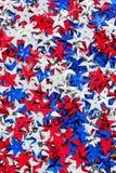 美国红色,白色和蓝星背景 图库摄影