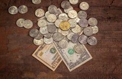 美国纸币 图库摄影