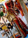 美国组印第安音乐当地人作用 库存图片