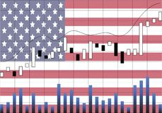 美国经济上升 皇族释放例证