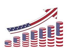 美国经济上升 向量例证