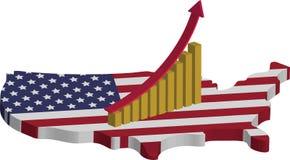 美国经济兴旺 库存例证
