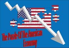 美国经济的难题 皇族释放例证