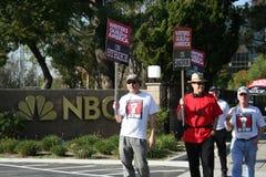 美国罢工2008 B作家协会  库存照片