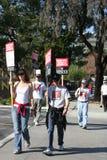 美国罢工2008 I作家协会  库存图片