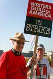 美国罢工2008 J作家协会  免版税库存照片