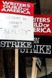 美国罢工2008 K作家协会  免版税库存照片