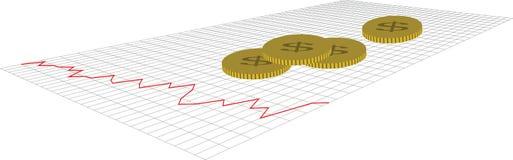 美国美元价格图 向量例证