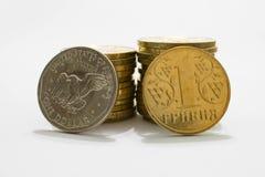 美国美元对乌克兰hryvnia 免版税库存图片