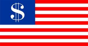 美国美元旗子 免版税库存照片