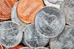 美国美元的极端接近的图片铸造 免版税库存图片