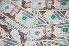 美国美元背景的钞票 免版税库存图片
