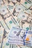 美国美元背景的钞票 库存照片