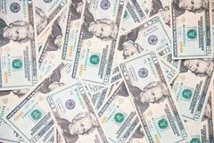 美国美元背景的钞票 库存图片