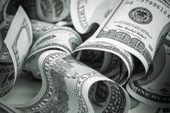 美国美元,一百USD钞票 库存图片