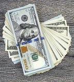 美国美元,美国$ 100,老和新的100美元图片、了不起的美元图片用不同的概念财务的和股票exchang 免版税图库摄影