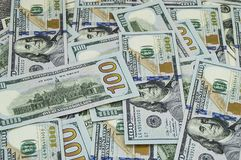 美国美元,美国$ 100,老和新的100美元图片、了不起的美元图片用不同的概念财务的和股票exchang 库存图片