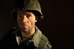 美国美国兵画象- PTSD 免版税库存照片