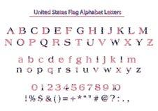 美国美国旗子爱国传染媒介字母表信件 皇族释放例证