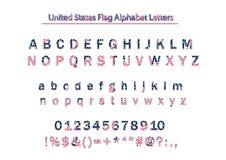 美国美国旗子爱国传染媒介字母表Letters_vol_3 皇族释放例证