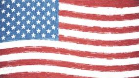 美国美国柔和的淡色彩被画的沙文主义情绪的无缝的圈新的质量独特的生气蓬勃的动态行动快乐五颜六色冷却 皇族释放例证