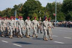 美国美国部队游行 免版税库存照片