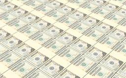 美国美金堆背景 免版税库存照片
