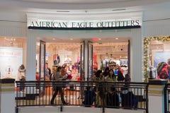 美国老鹰安装特殊机器者商店在Westfield购物中心 免版税库存照片