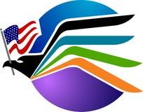 美国老鹰徽标 库存照片
