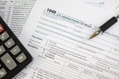 美国联邦所得税回归 库存照片