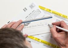 美国联邦税务局报税表1040-ES 免版税库存照片