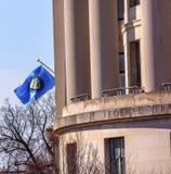 美国联邦贸易委员会FTC旗子华盛顿特区 库存照片