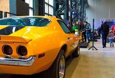 美国肌肉汽车后面光 免版税图库摄影