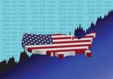 美国股市上升 向量例证
