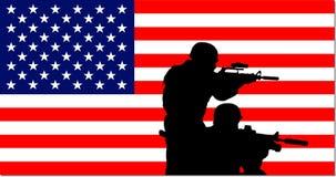 美国背景军人 免版税库存照片