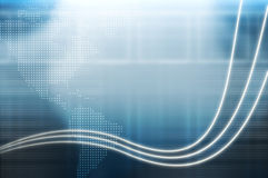 美国背景蓝色大陆高技术 免版税库存照片