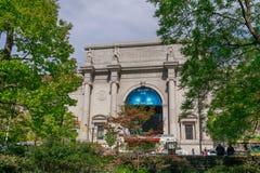 美国自然历史博物馆在曼哈顿,纽约 免版税库存图片