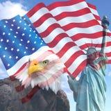 美国自由旗子 库存照片
