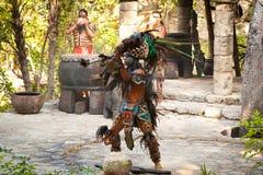 美国舞蹈玛雅当地人 库存照片